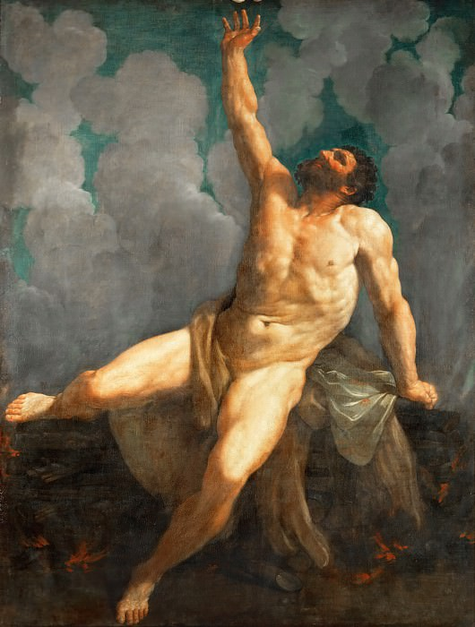 Guido Reni (1575-1642) -- Hercules on His Pyre. Part 1 Louvre