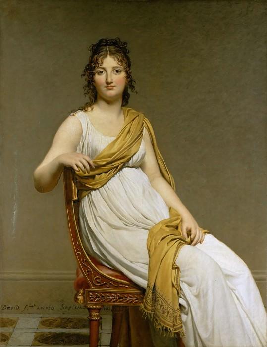 David, Jacques Louis -- Henriette Verninac, born Henriette Delacroix, Eugene Delacroix sister. Part 1 Louvre