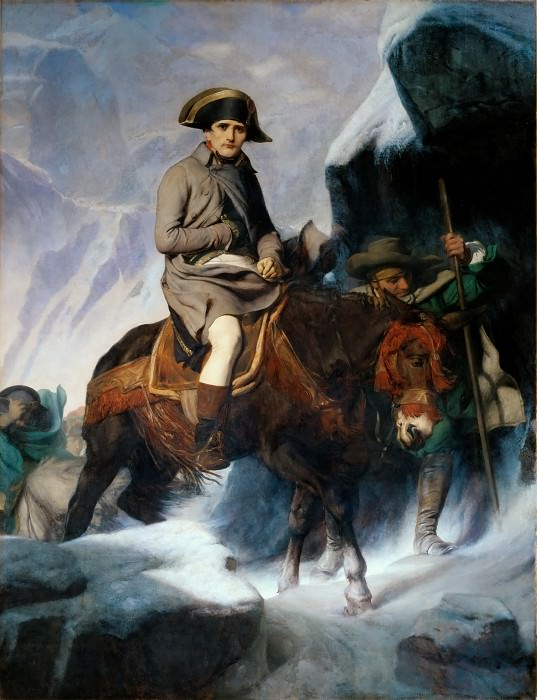 Paul Delaroche -- Bonaparte Crossing the Alps. Part 1 Louvre