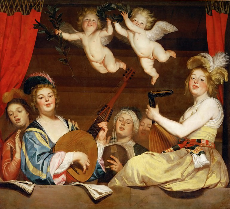 Gerrit van Honthorst (1590-1656) -- The Concert. Part 1 Louvre