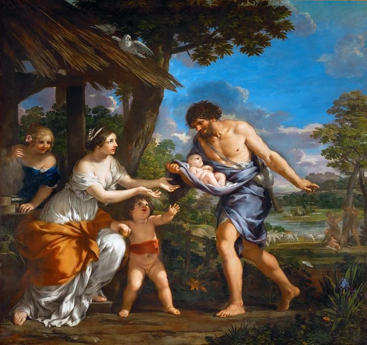 Pietro da Cortona (1596-1669) -- Romulus and Remus found by Faustus. Part 1 Louvre