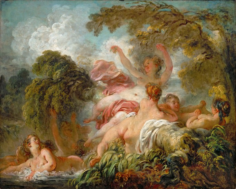 The bathers. Jean Honore Fragonard