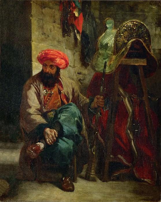 Делакруа, Эжен (1798 Шарантон-Сен-Морис - 1863 Париж) -- Турок с седлом. часть 1 Лувр