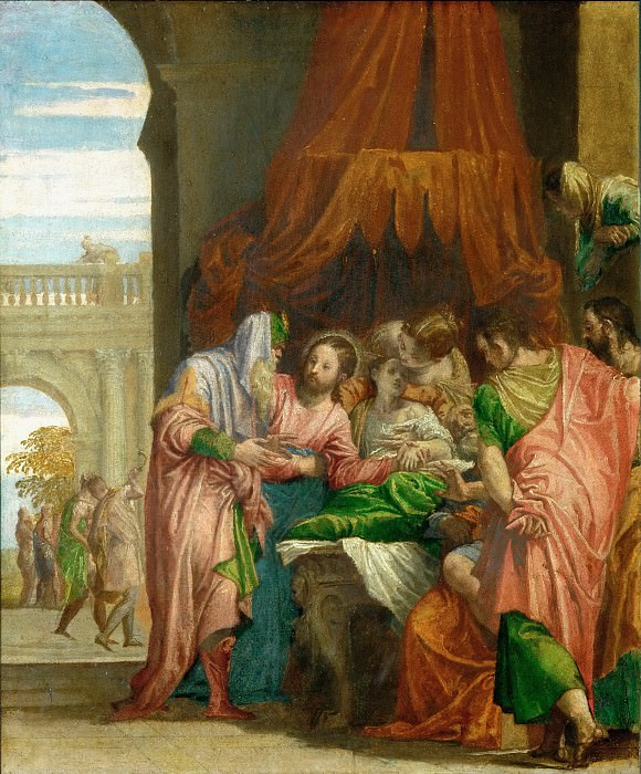 Paolo Veronese -- Resurrection of the Daughter of Jairus. Part 1 Louvre