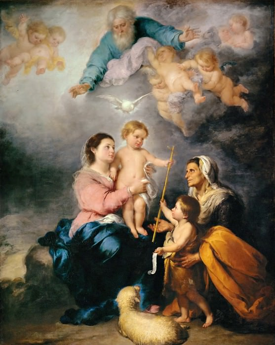 Bartolomé Estebán Murillo -- Holy Family (Virgin of Seville). Part 1 Louvre