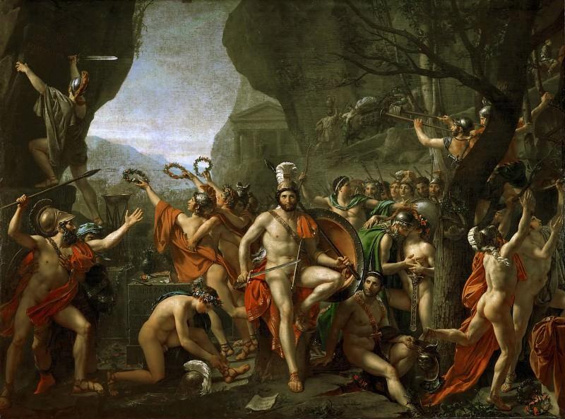 Leonidas at Thermopylae. Jacques-Louis David