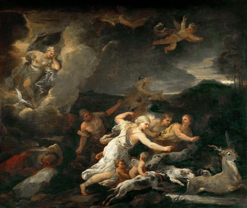Luca Giordano -- Diana's Hunt. Part 1 Louvre