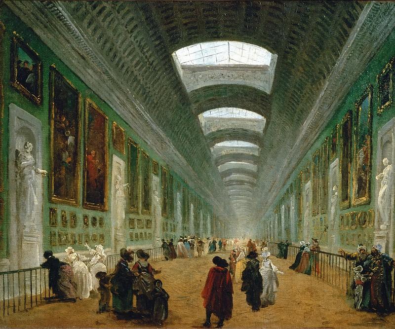 Robert, Hubert -- Projet dámenagement de la Grande Galerie du Louvre. Canvas, 46, 5 x 57, 5 cm RF 1952-15. Part 1 Louvre