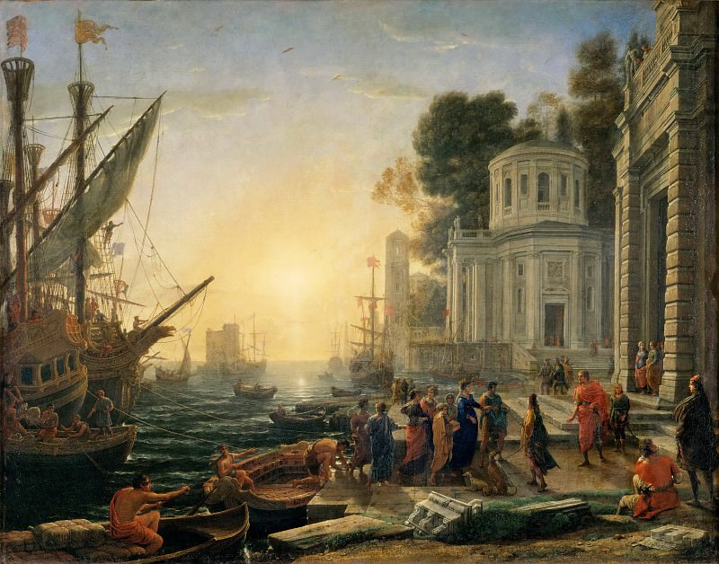 Claude Lorrain -- Cleopatra disembarking at Tarsus. Part 1 Louvre