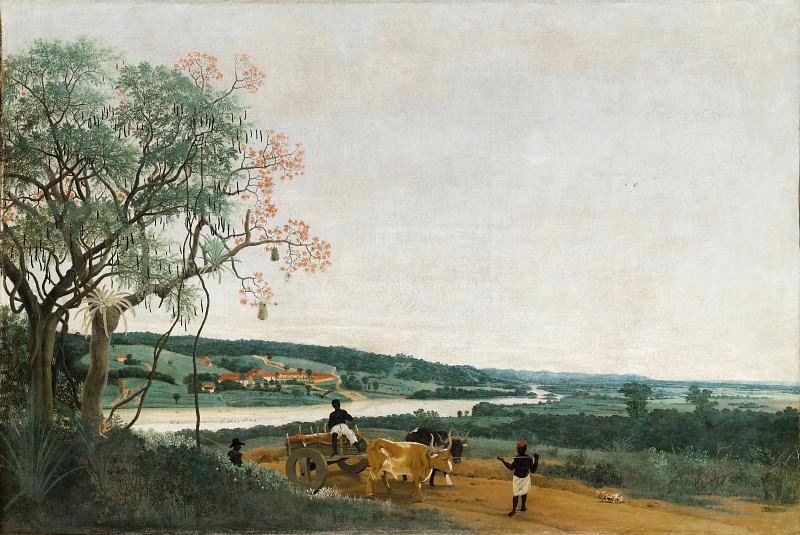 Frans Post -- An oxcart: Brazilian landscape. Part 1 Louvre