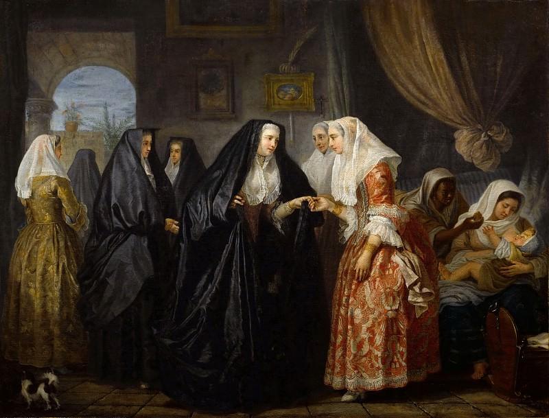 Antoine de Favray -- Maltese Women Paying a Visit (Dames de Malte se faisant visite). Part 1 Louvre