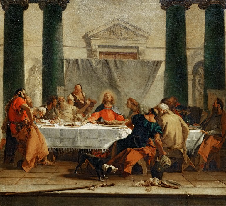 The Last Supper. Giovanni Battista Tiepolo