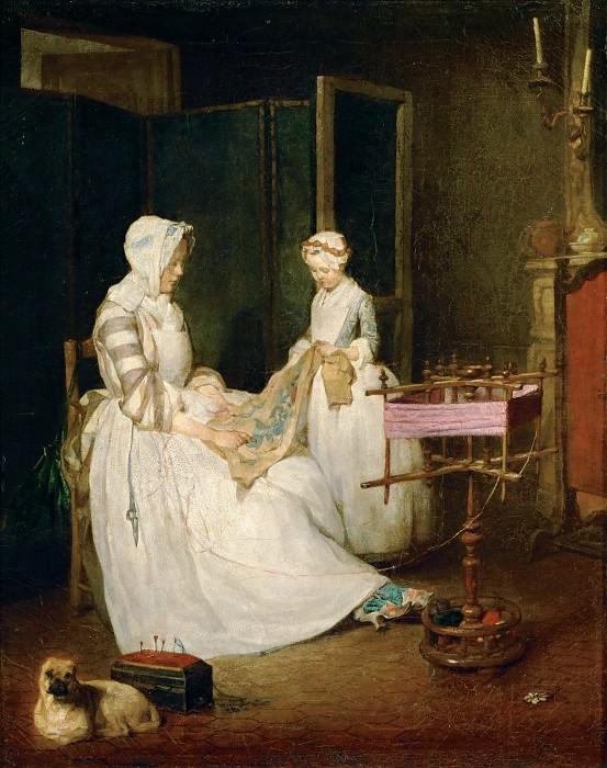 Hard-working mother. Jean Baptiste Siméon Chardin