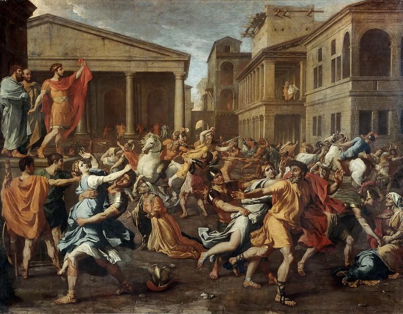 Rape of the Sabine Women. Nicolas Poussin