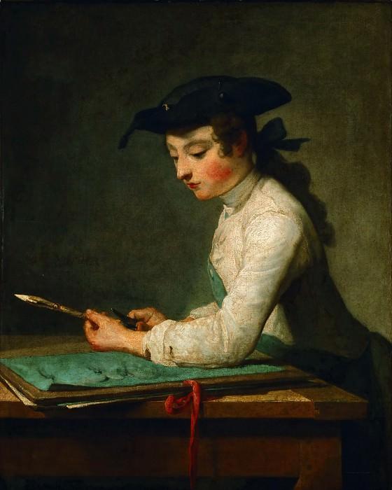 Young Draughtsman. Jean Baptiste Siméon Chardin
