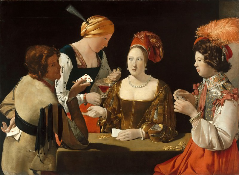 Georges de La Tour -- The Cheat with the Ace of Diamonds. Part 1 Louvre