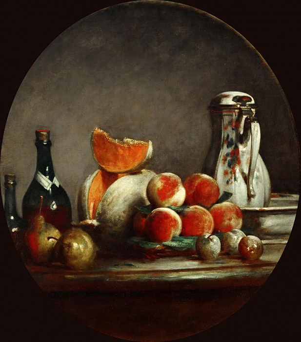 Pears, peaches and plums. Jean Baptiste Siméon Chardin