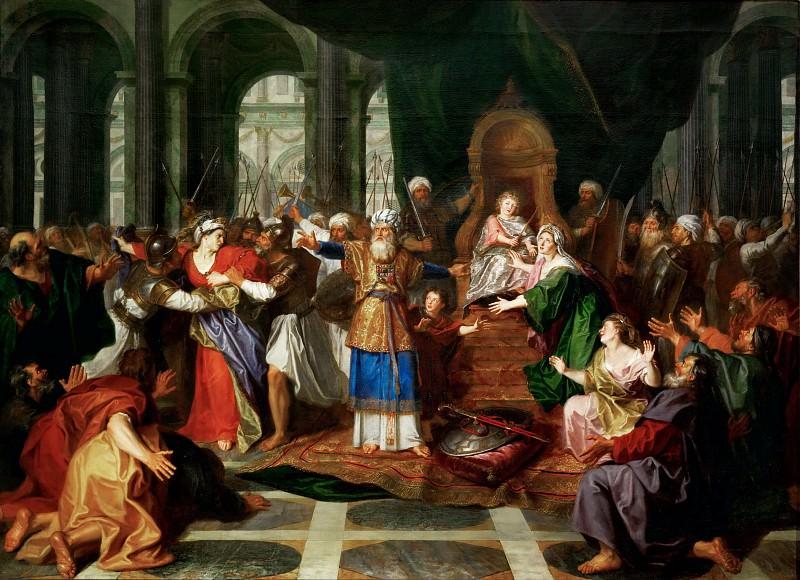 Куапель, Антуан (Париж 1661-1722) -- Изгнание Аталии из Храма. часть 1 Лувр