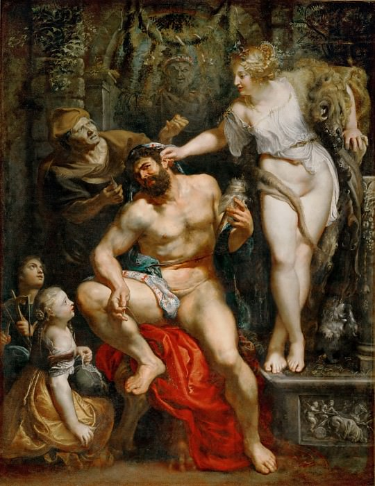 Hercules and Omphale. Peter Paul Rubens