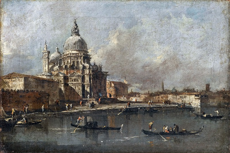 Francesco Guardi -- View of the Salute in Venice. Part 1 Louvre