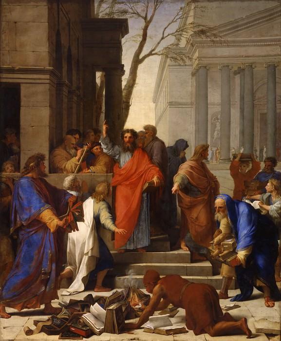 Eustache Le Sueur -- The prophesy of St. Paul at Ephesus. Part 1 Louvre