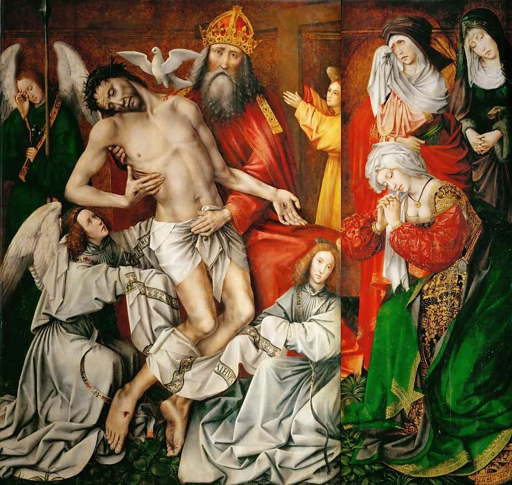 Котер, Колен де (Брюссель ок1446-1538) -- Алтарь святой Троицы. часть 1 Лувр