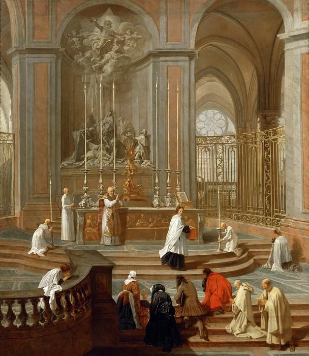 Jean-Baptiste Jouvenet (1644-1717) -- Mass Said by the Canon de La Porte, or the High Altar of Notre-Dame de Paris. Part 1 Louvre