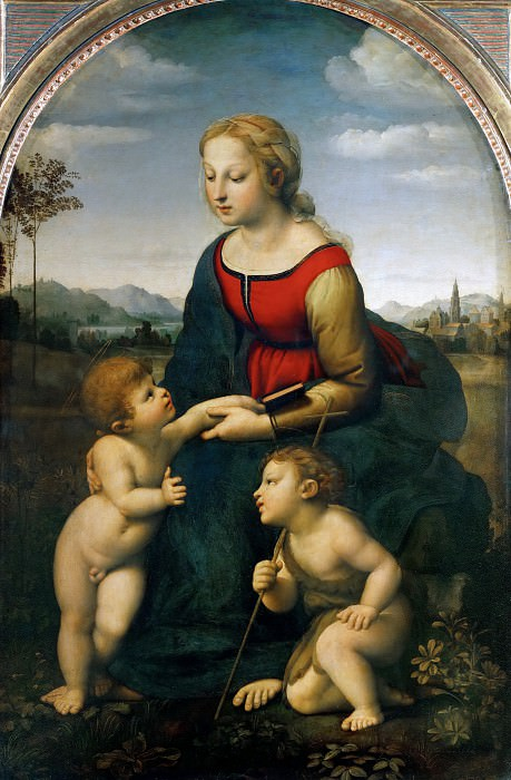 Madonna with Child and the Young Saint John (La Belle Jardinière). Raffaello Sanzio da Urbino) Raphael (Raffaello Santi