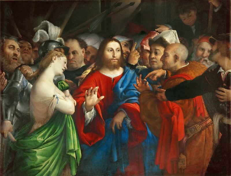 Lorenzo Lotto -- The Adultress. Part 1 Louvre