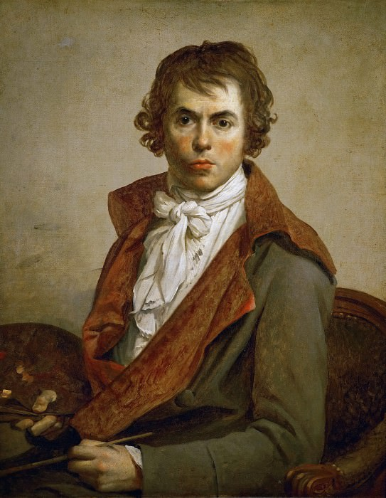 David, Jacques Louis -- Jaques Louis David, self-portrait. Oil on canvas (1794) 81 x 64 cm. Part 1 Louvre