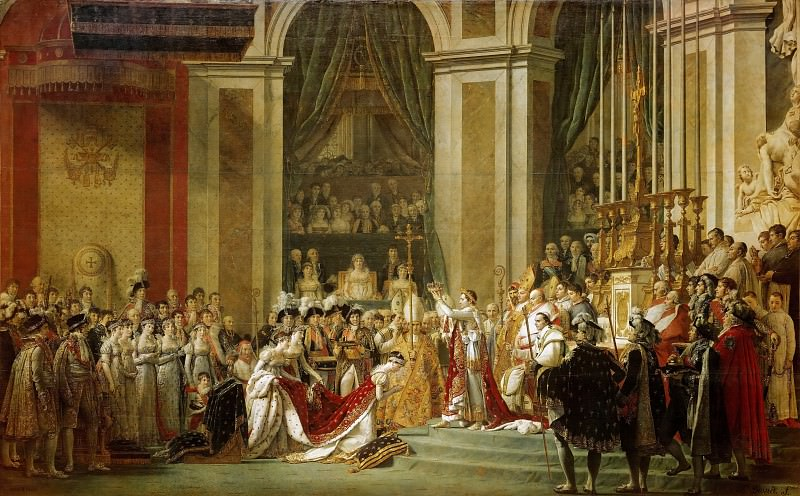 Jaques-Louis David - The Coronation of the Napoleon and Josephine in Notre-Dame Cathedral on December 2, 1804. Part 1 Louvre