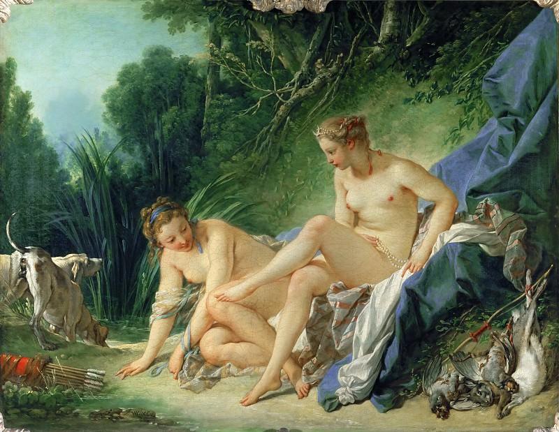 Буше, Франсуа -- Диана после купания. Part 1 Louvre
