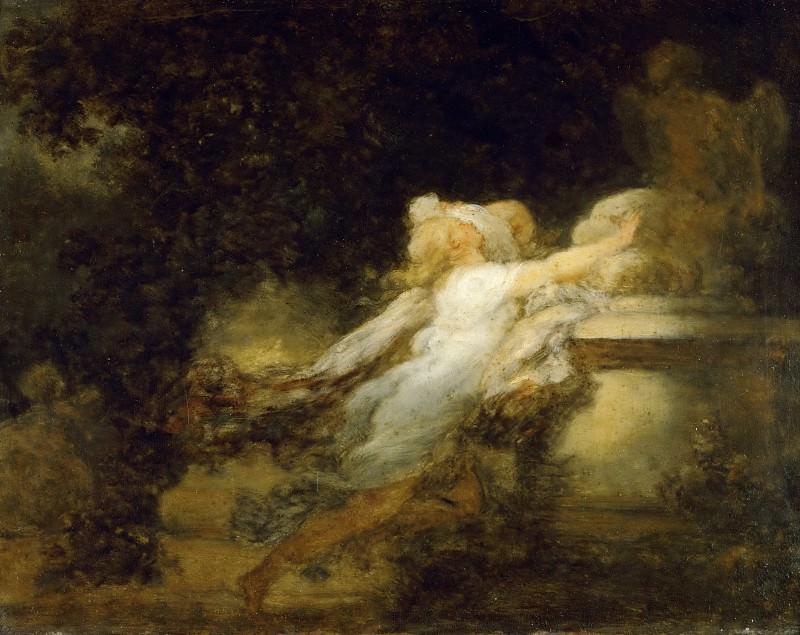 Love pledge. Jean Honore Fragonard
