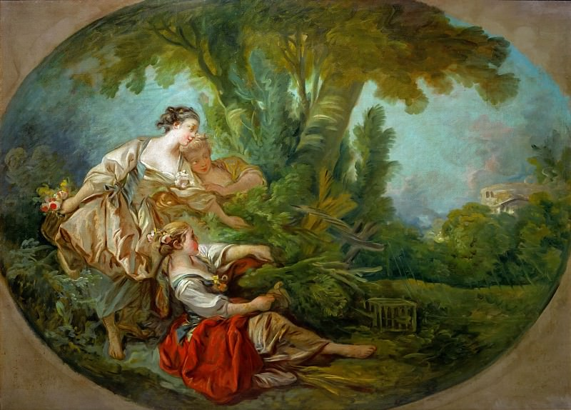 bird caught in the nets. Francois Boucher