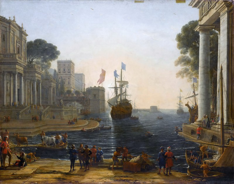 Claude Lorrain -- Ulysses returns Chryseis to her father. Part 1 Louvre