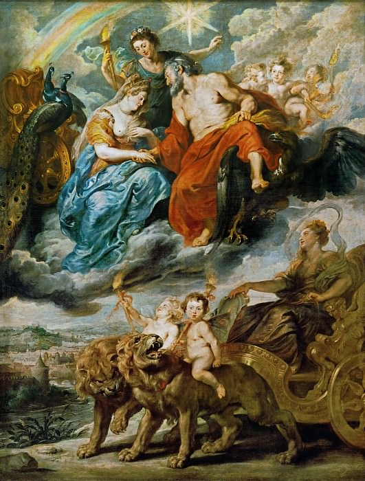 Peter Paul Rubens -- Medici Cycle: Meeting of Henry IV and Maria de Medici at Lyon on November 9, 1600. Part 1 Louvre