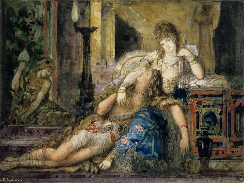 Gustave Moreau -- Samson and Delilah. Part 1 Louvre