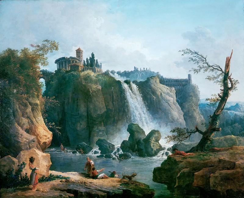 Robert, Hubert -- La cascade de Tivoli-The waterfall at Tivoli. Canvas, 76 x 93 cm. Part 1 Louvre