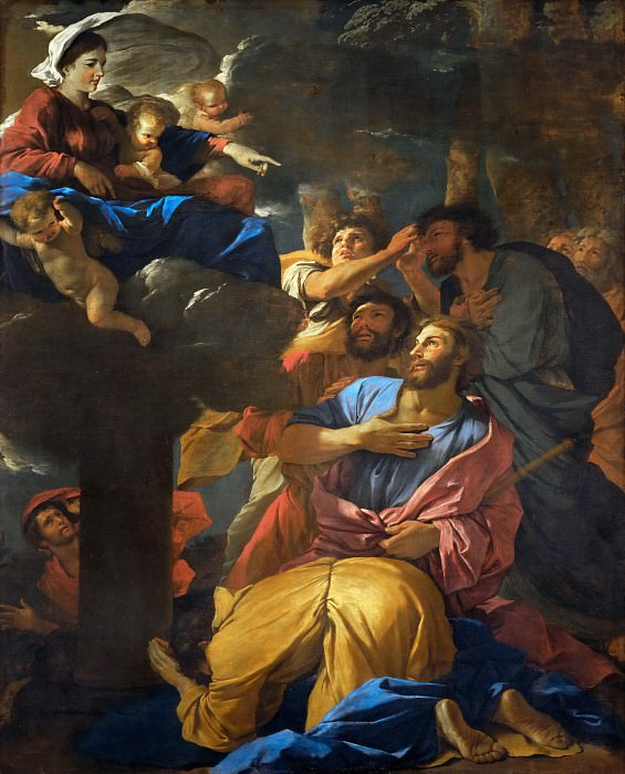 Nicolas Poussin -- Appearance of the Virgin to Saint James the Greater. Part 1 Louvre