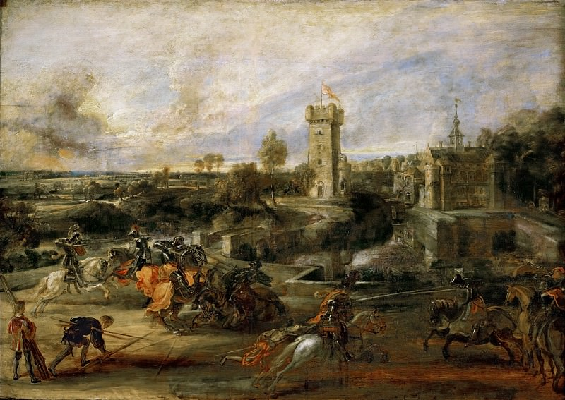 Tournament in front of Castle Steen. Peter Paul Rubens