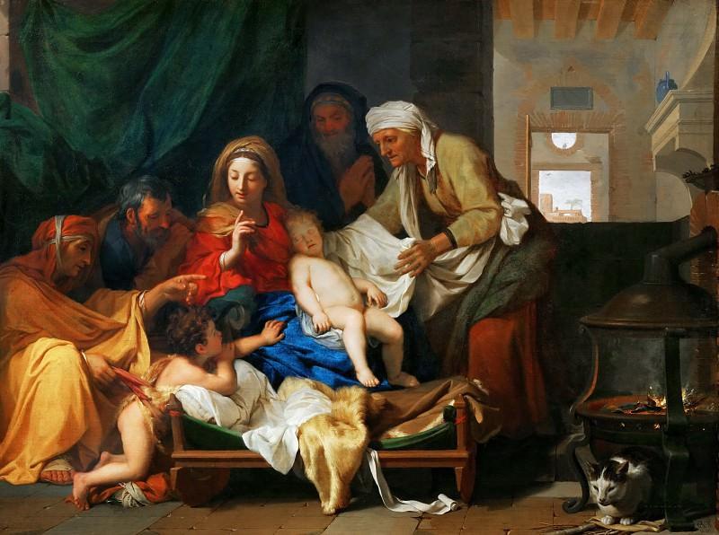 Лебрен, Шарль (Париж 1619-1690) -- Святое семейство со спящим младенцем Иисусом. Part 1 Louvre