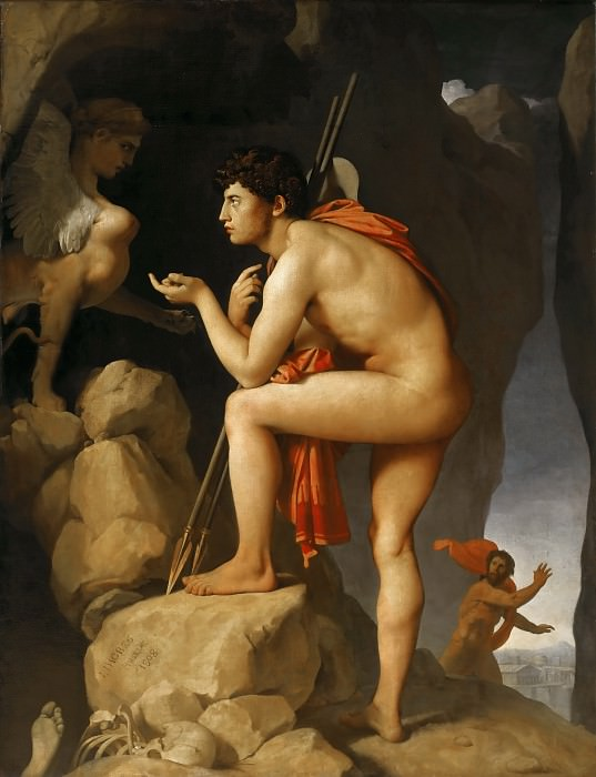Oedipus and the Sphinx. Jean Auguste Dominique Ingres