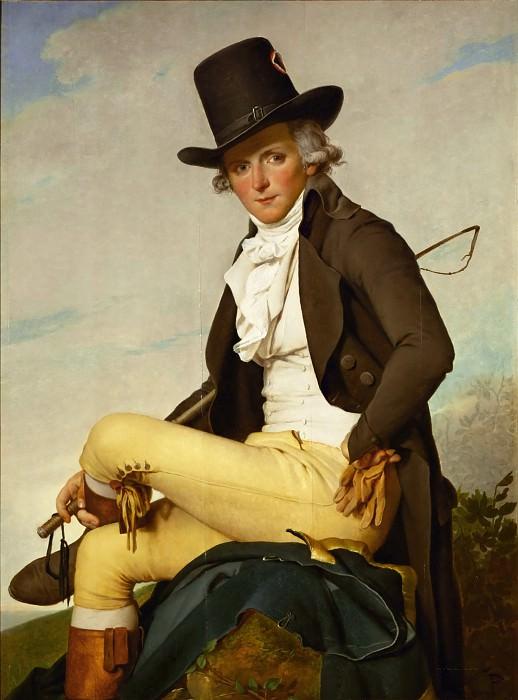 David, Jacques Louis<br /> -- Portrait of Pierre Seriziat. Oil on wood (1795) 129 x 95.5 cm RF 1281 <br />. Part 1 Louvre