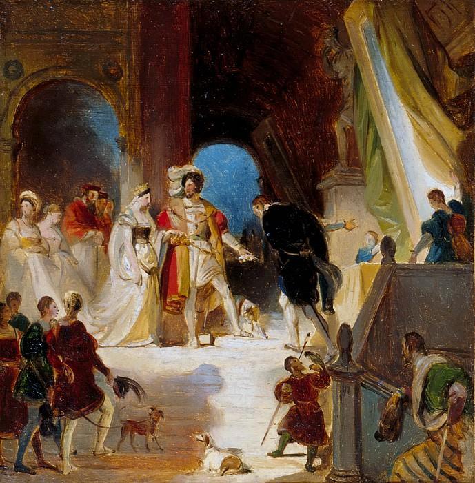 Фрагонар, Александр-Эварист (1780 Грасс - 1850 Париж) -- Приматиччо представляет Франциску I и его двору свои произведения. Part 1 Louvre