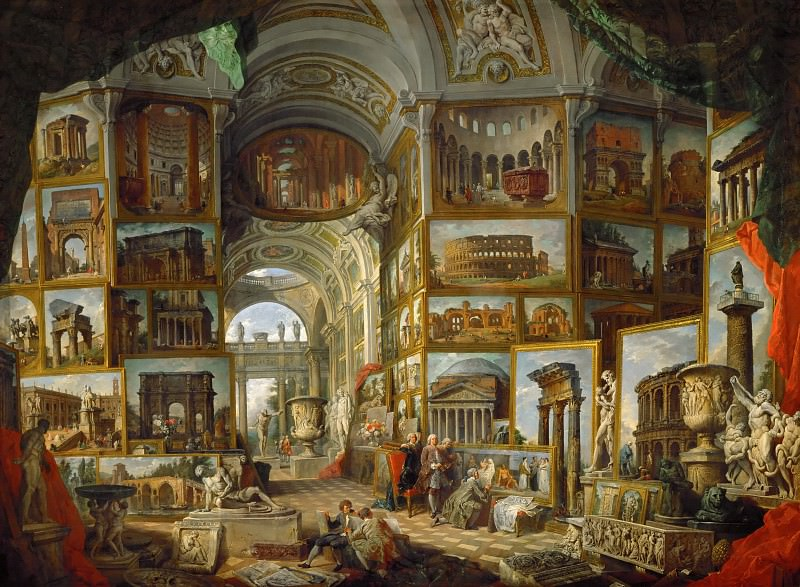 Giovanni Paolo Panini -- The Gallery of views of ancient Rome. Part 1 Louvre