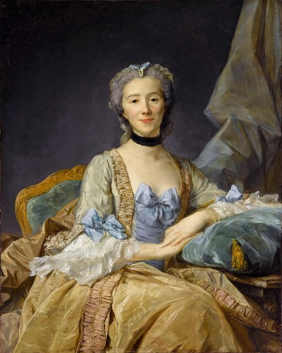 Jean-Baptiste Perronneau -- Madame de Sorquainville. Part 1 Louvre