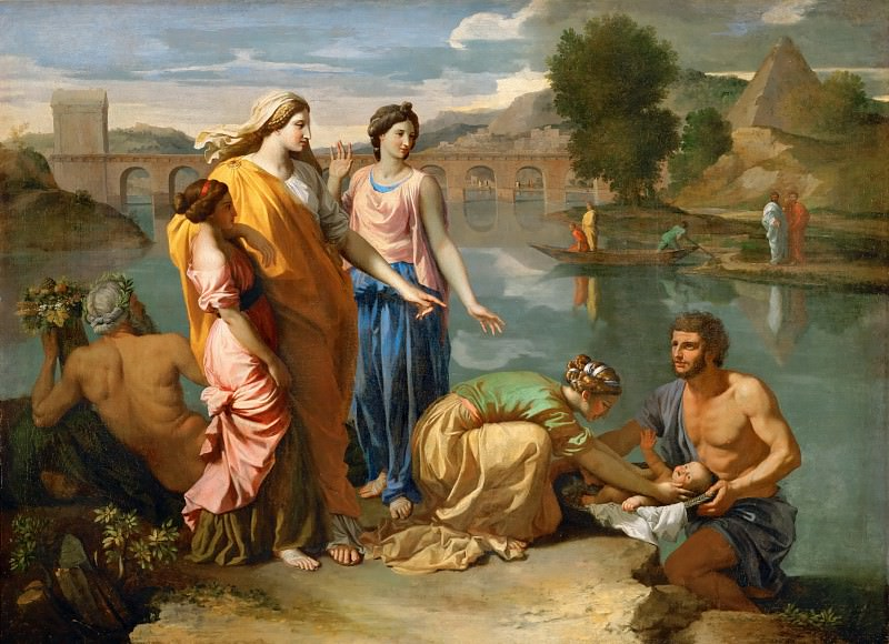 Nicolas Poussin -- Moses Saved from the Waters of the Nile. Part 1 Louvre