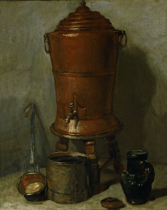 CHARDIN, Jean-Baptiste-Sim?on -- (b. 1699, Paris, d. 1779, Paris). Part 1 Louvre