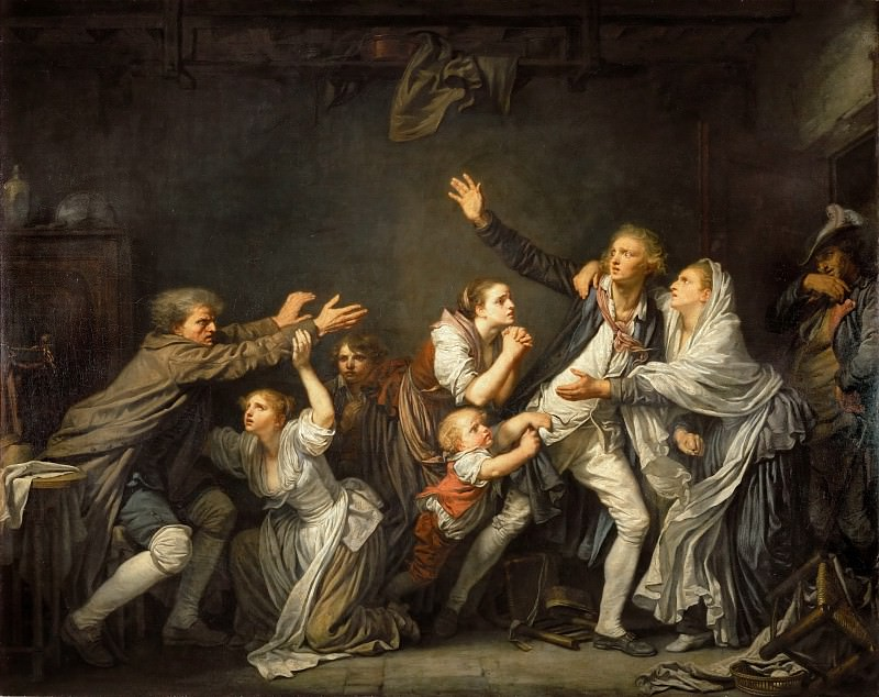 Jean-Baptiste Greuze (1725-1805) -- The Father's Curse, or The Ungrateful Son. Part 1 Louvre