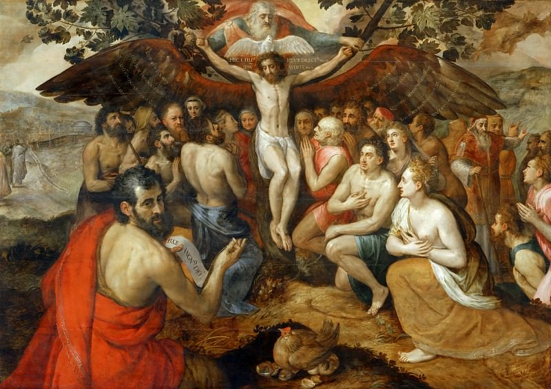 Frans Floris the elder -- Allegory of the Trinity. Part 1 Louvre